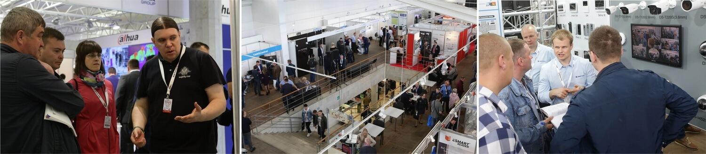 Участники и посетители выставки-форума «Центр безопасности.2019». Коллаж